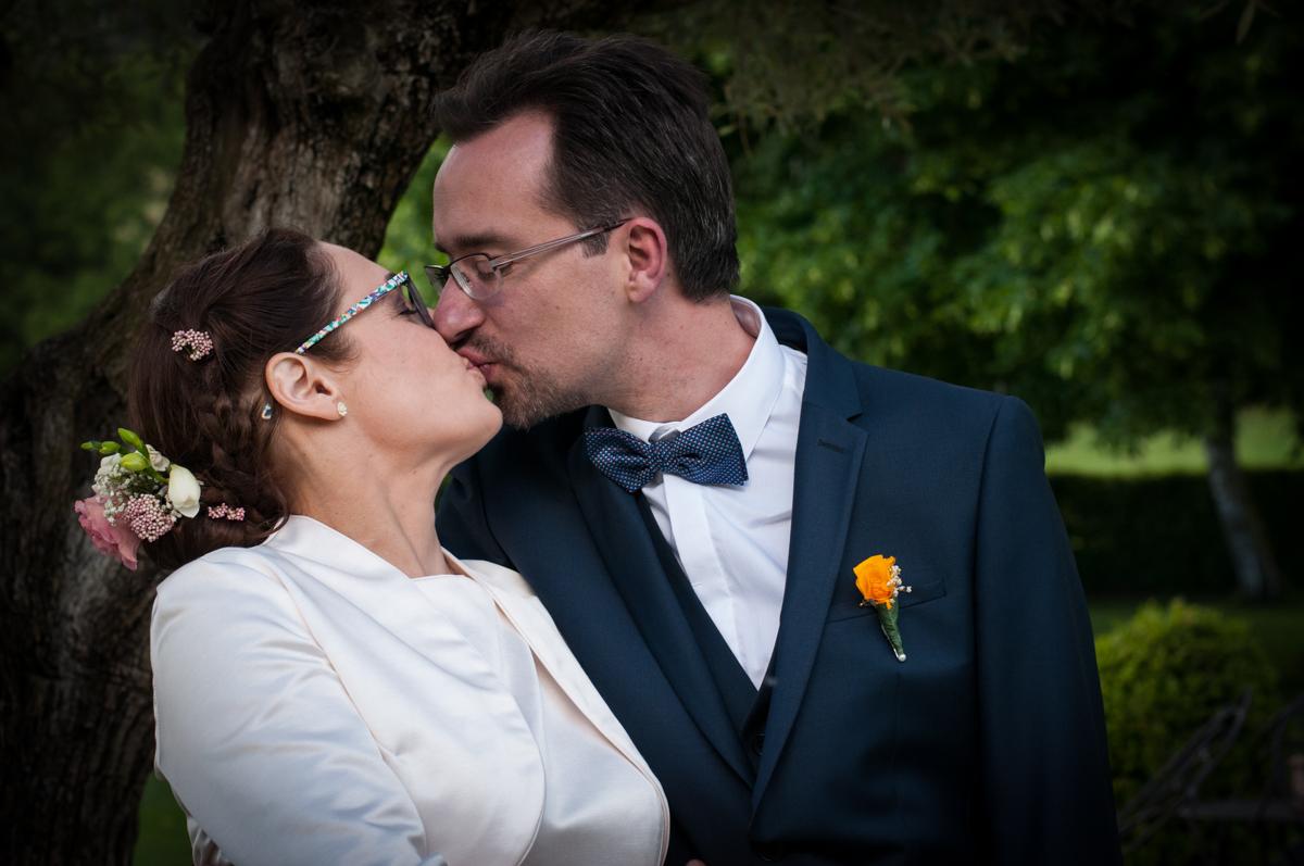 Le baiser - Mariage de Ninon et Jerome 2017