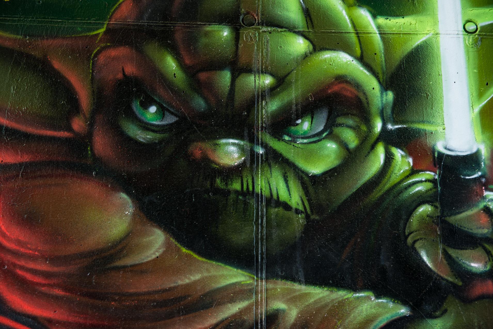Arche 5 - Yoda - Pont des Lônes : Street Art