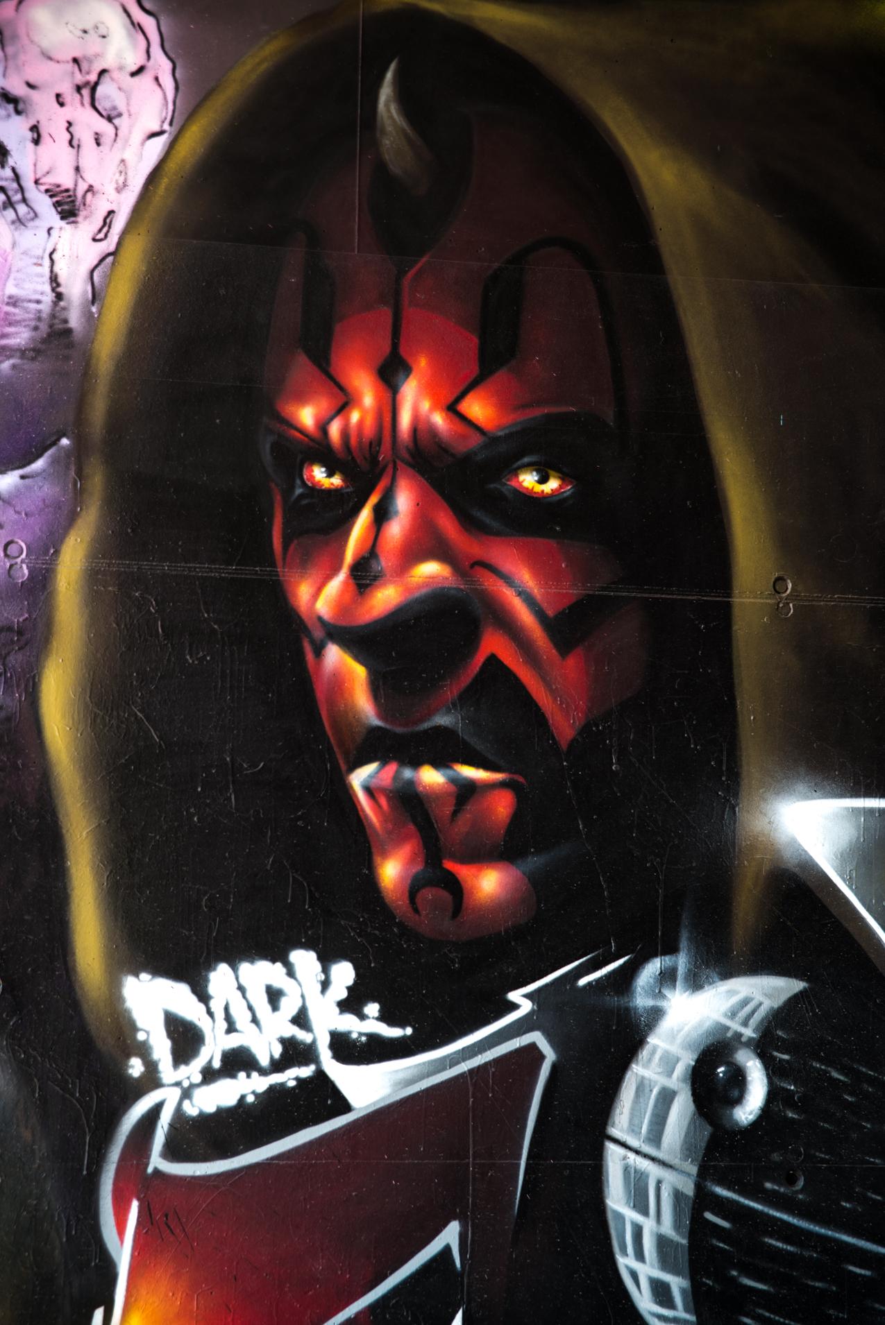 Arche 5 - Dark Vador - Pont des Lônes : Street Art