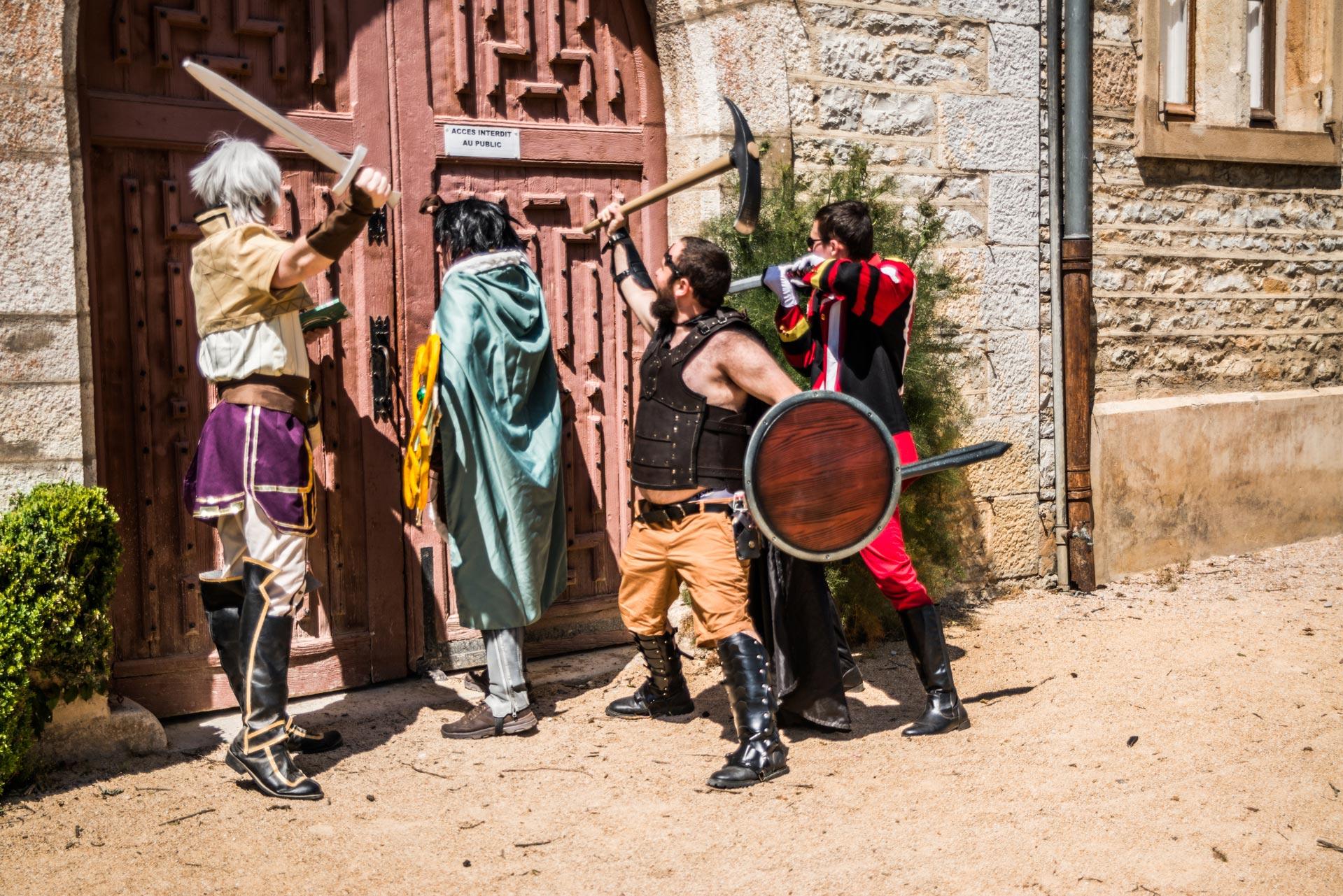 Entrée interdite au shooting cosplay les voyageurs